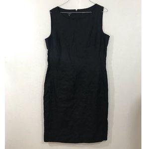 Talbots pure Irish linen black Midi Dress